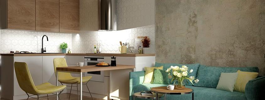 современный дизайн интерьера кухни 5