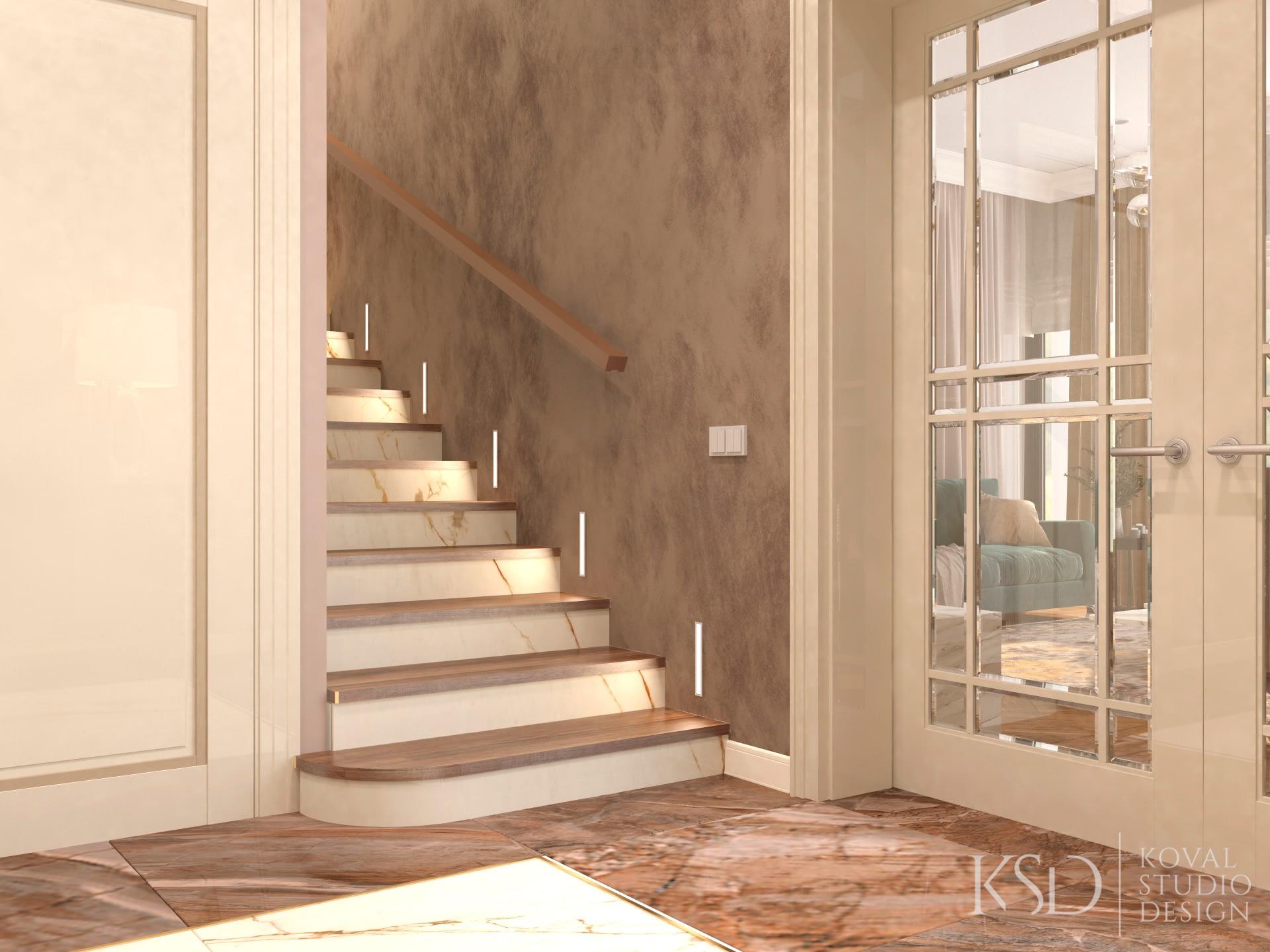 интерьер лестницы для дома